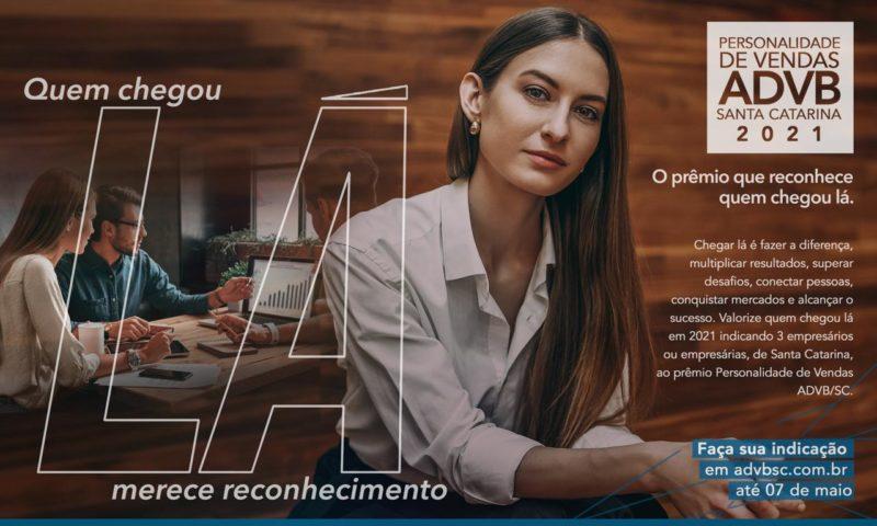 ADVB/SC Abre inscrições para Prêmio Personalidade de Vendas 2021 – Foto: ADBV-SC/ Divulgação/ ND
