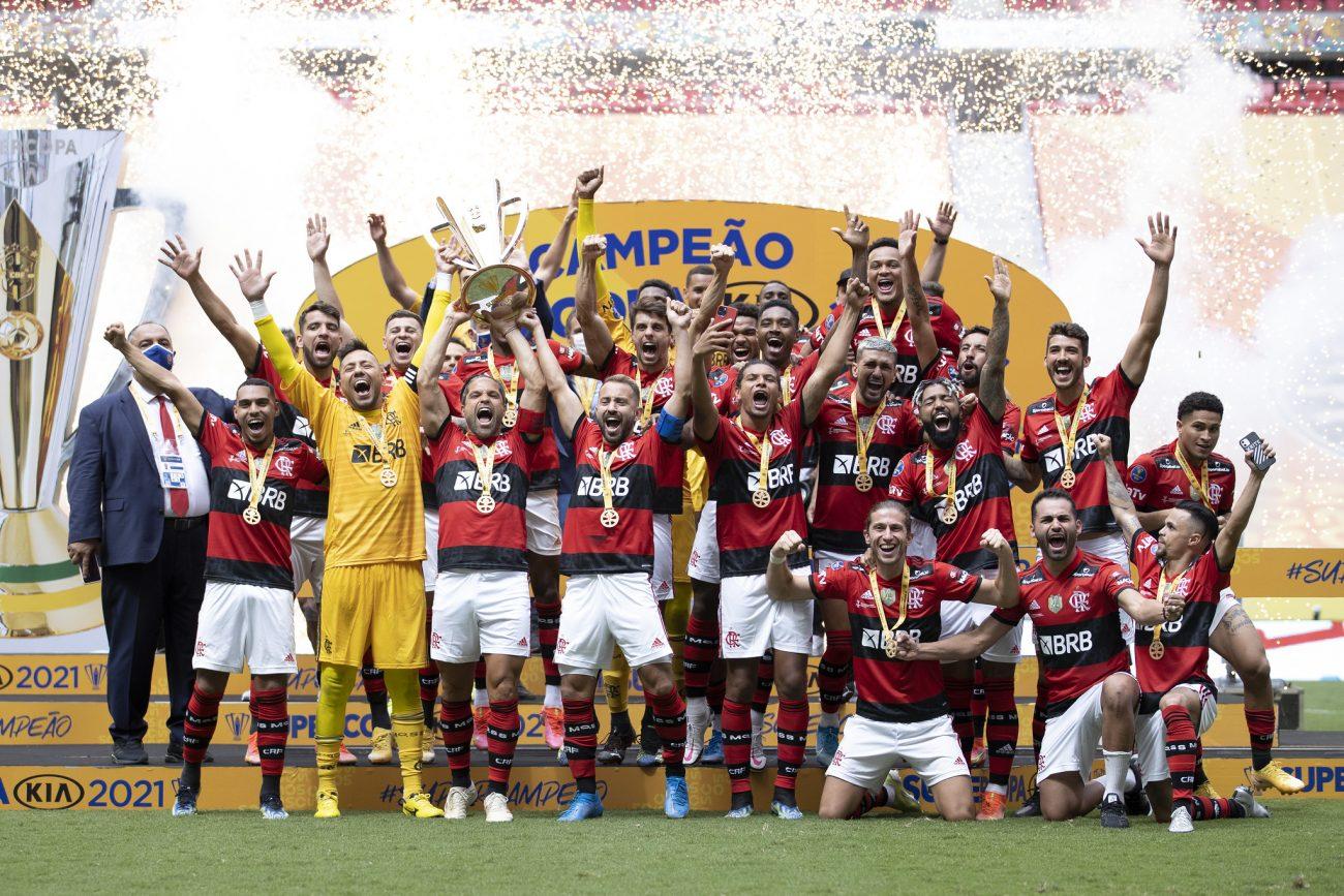 Após disputa de pênaltis, Flamengo sagrou-se campeão da Supercopa. - Lucas Figueiredo/CBF/ND