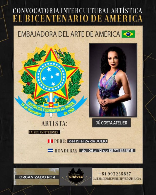 Cartaz da Convocação Intercultural Artística do Bicentenário da América – Foto: Redes Sociais/Reprodução/ND