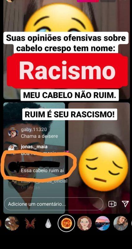 Homem fez comentário racista sobre o cabelo de Keyt – Foto: Reprodução Instagram