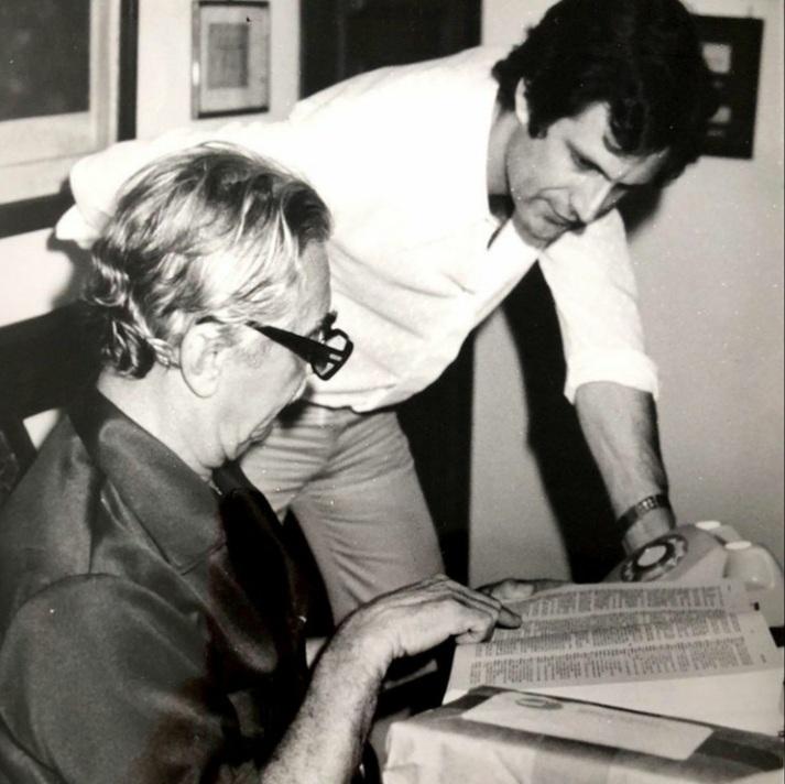 Augusto Nunes e o ex-presidente Jânio Quadros, que renunciou em 1961