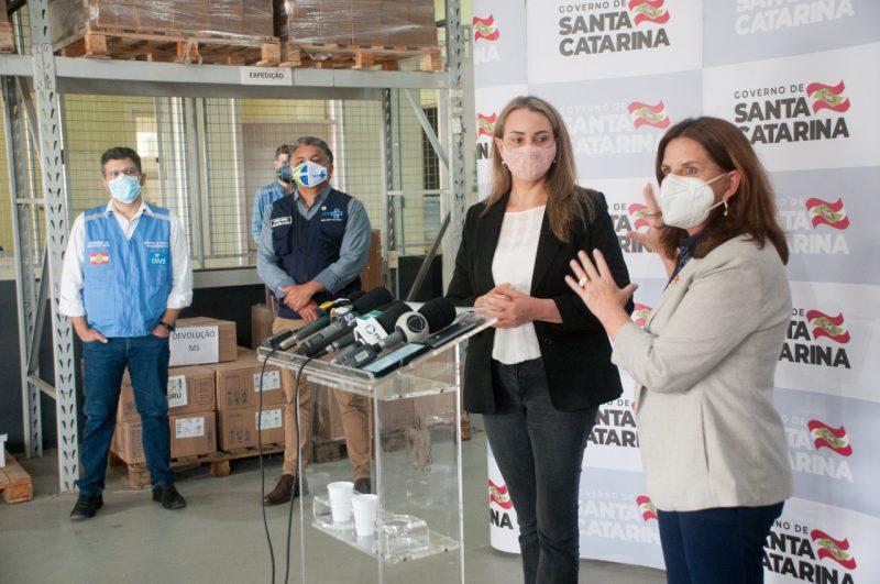 Autoridades que gerenciam a pandemia em Santa Catarina