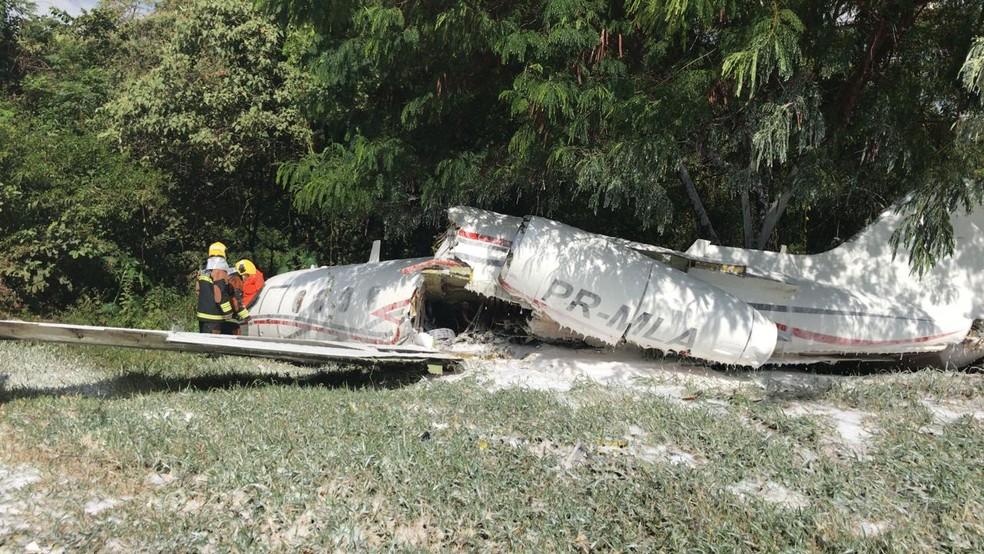Acidente aconteceu no Aeroporto da Pampulha - Bombeiros de MG/ND