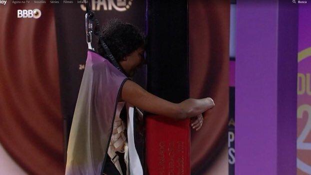 Camilla de Lucas foi a primeira participante a desistir da prova – Foto: Rede Globo/Reprodução