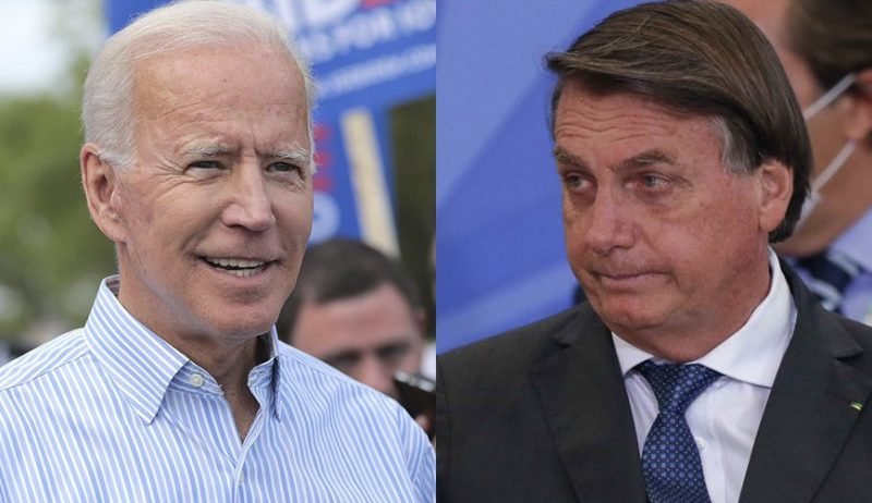 Joe Biden e Jair Bolsonaro negociam ajuda norte-americana contra a Covid-19 – Foto: Reprodução/R7