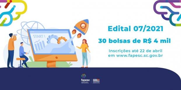 Inscrições para 30 bolsas de R$ 4 mil para gestão de projetos – Foto: Fapesc/Divulgação/ND