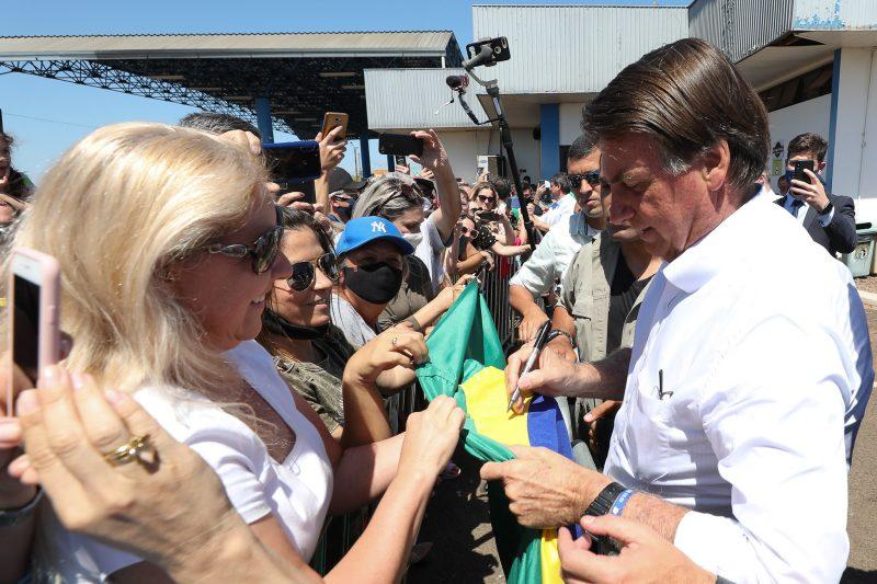 Bolsonaro esteve em Chapecó no fim do ano passado – Foto: Marcos Correa/PR/ND