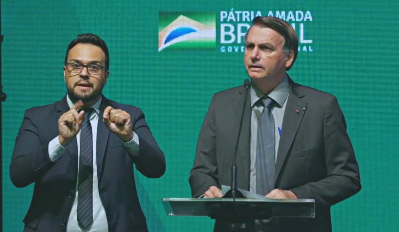 Jair Bolsonaro esteve em Chapecó nesta quarta-feira – Foto: Prefeitura de Chapecó/ND