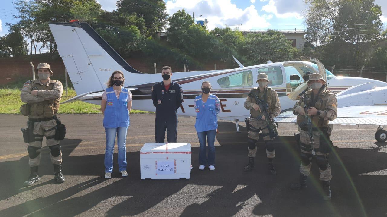 Doses entregues em Xanxerê - CBMSC/Divulgação/ND