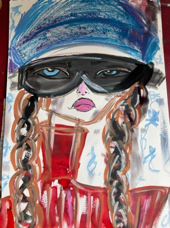 A arte de Marina sempre ligada com a moda.