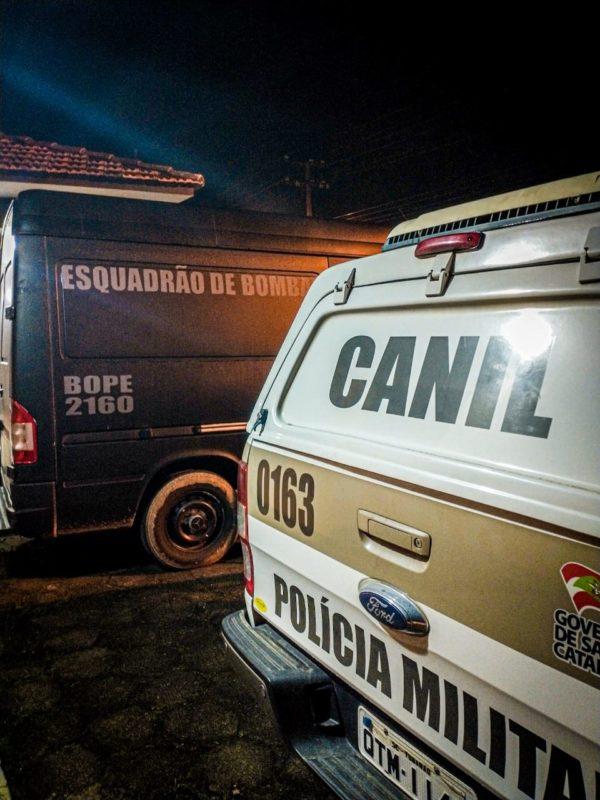 BOPE foi acionado para detonar os explosivos – Foto: PMSC/Divulgação/ND