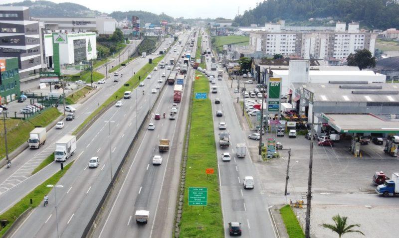 BR-101 terá bloqueio parcial a partir desta quinta-feira em São José – Foto: Divulgação/ND