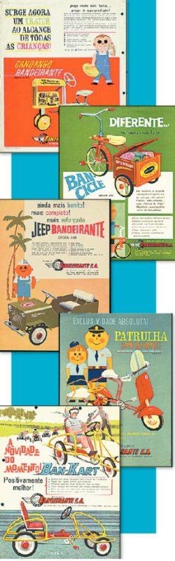 Linha dos cobiçados brinquedos Bandeirante nos anos 1960 – Foto: Arquivo Pessoal/ND