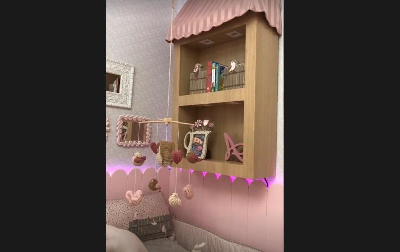 Imagens dos espaços de luxo da bebê na casa também são publicadas. – Foto: @bordinibruna/Instagram/Reprodução