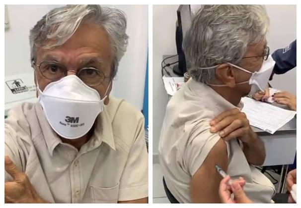 Caetano Veloso recebeu a vacina em março. - Reprodução/Instagram