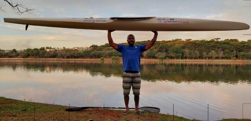 Edinho, atleta da canoagem