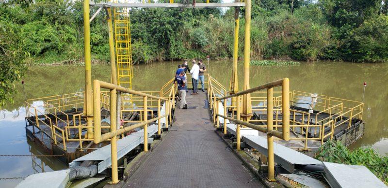 Novo equipamento deve aumentar captação de água que abastece Itajaí e Navegantes – Foto: Semasa/Divulgação