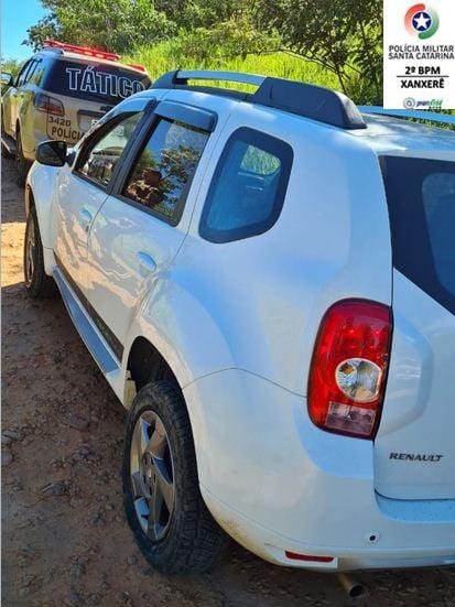 Motorista estava em um Renault/Duster que havia registro de furto no Rio Grande do Sul - PM Xanxerê/Divulgação
