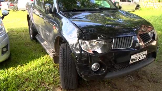 Veículo do empresário após o acidente – Foto: Divulgação/ND