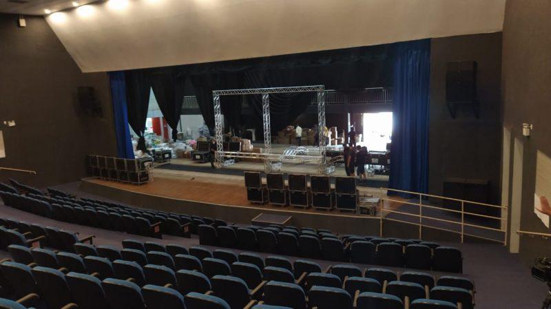 Teatro do Centro de Eventos vai receber a comitiva presidencial nesta quarta-feira – Foto: Felipe Kreusch/NDTV/ND