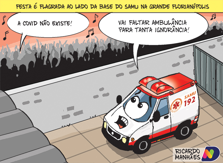 Confira a Charge de Ricardo Manhães desta terça-feira (6)