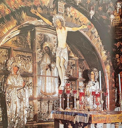 Cristo crucificado na Colina do Gólgota (Calvário) – Foto: Moacir Pereira/Arquivo Pessoal