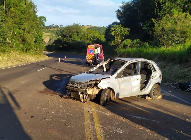 Acidente ocorreu no fim da tarde desta sexta-feira (2). - Corpo de Bombeiros/Divulgação/ND