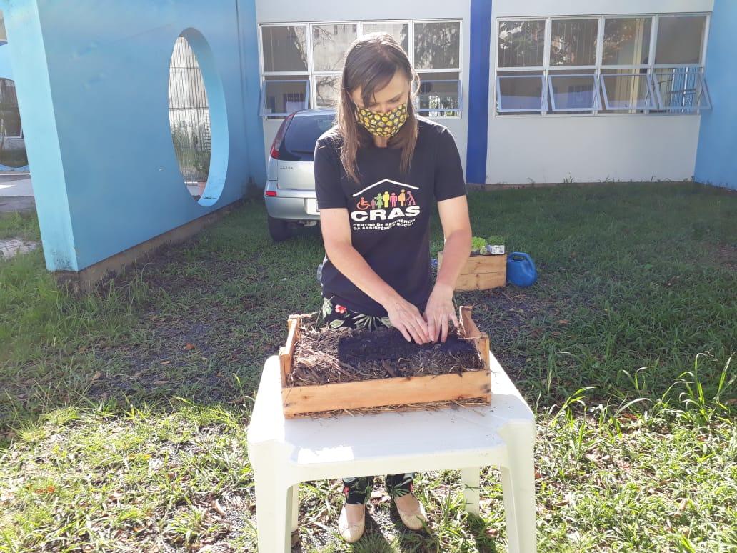 A produção da horta é dividida entre os participantes, e outra parte é doada para a Cozinha Comunitária Dona Ilda, na Vila Aparecida - Divulgação/PMF
