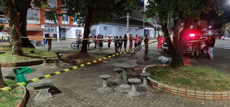 IGP, Polícia Civil, Polícia Miltar e Samu estiveram no local do crime – Foto: Portal Éder Luiz/Divulgação/ND