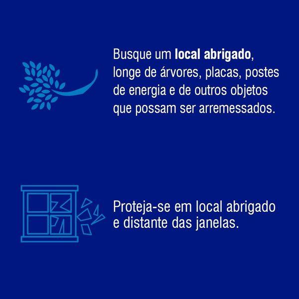 Defesa Civil alerta para cuidados a serem tomadas durante rajadas de vento – Foto: Defesa Civil/Divulgação/ND
