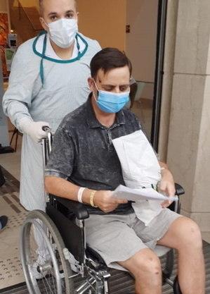 Alcimei ficou internado 40 dias no hospital – Foto: Reprodução/ND