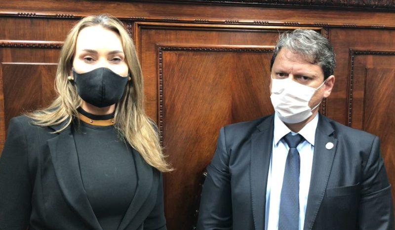 Daniela Reinehr e Tarcísio Gomes Freitas