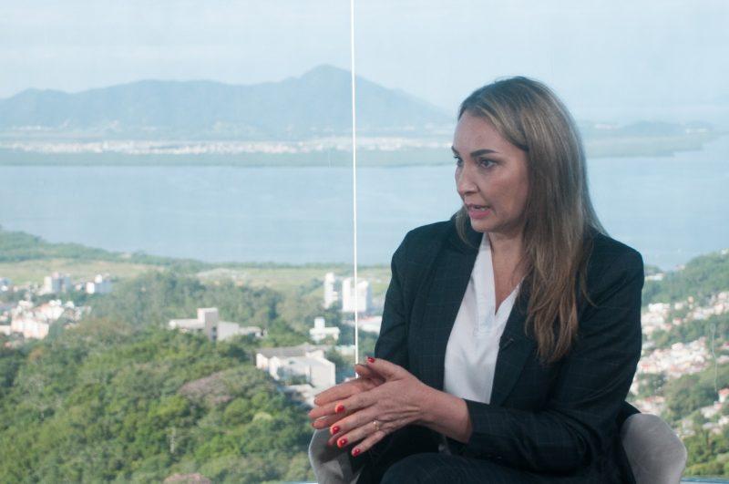 Daniela Reinehr concedeu entrevista ao Grupo ND nesta terça-feira – Foto: Leo Munhoz/ND