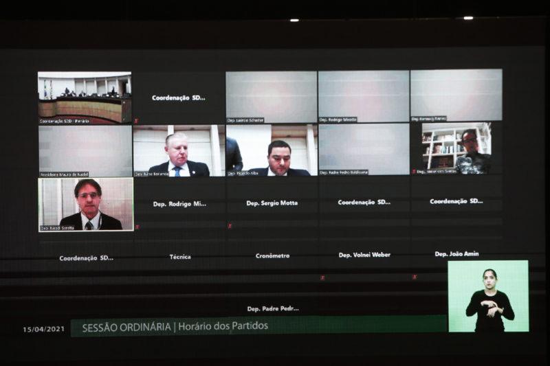 Sessão plenária realizada na manhã desta quinta-feira (15) – Foto: Daniel Conzi/ Agencia AL/ Divulgação/ ND