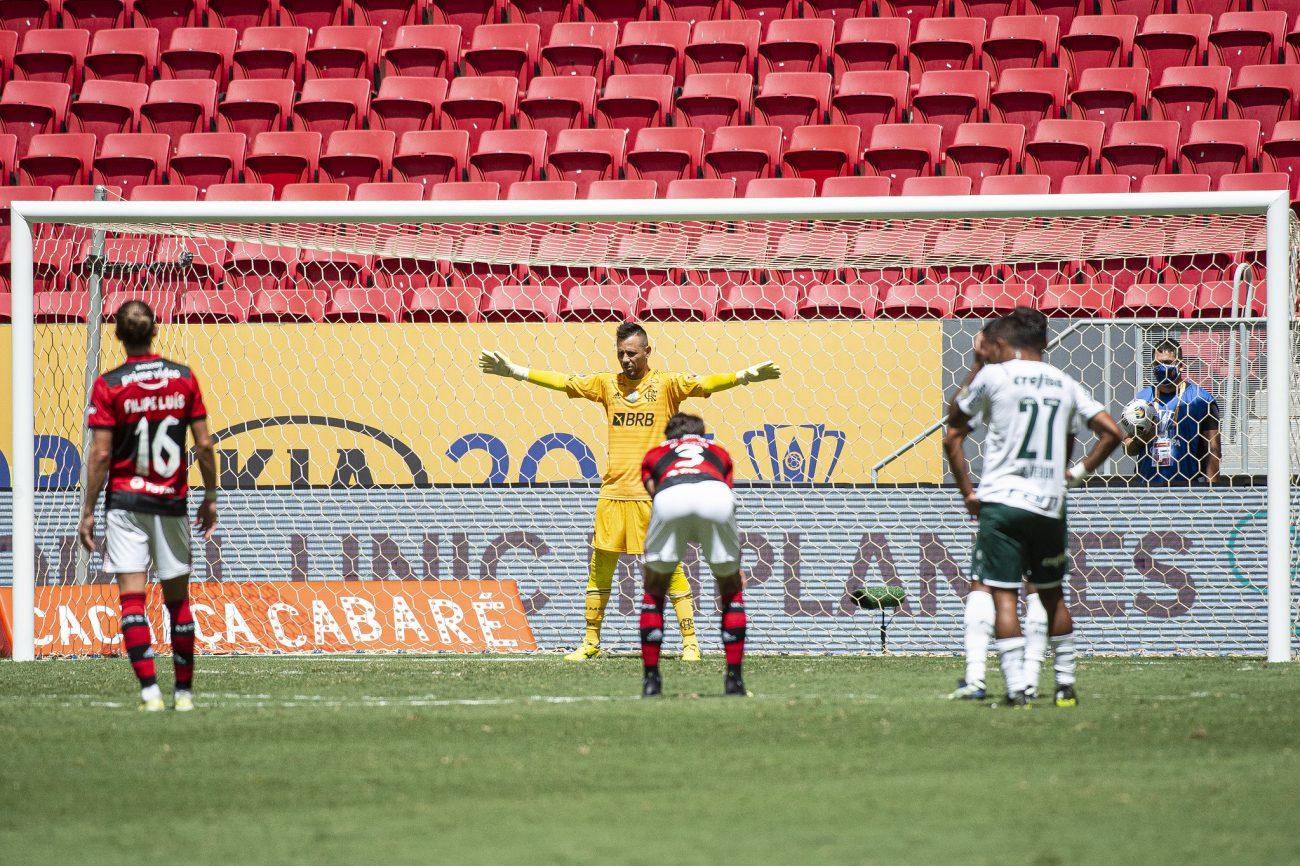 Diego Alves foi o destaque do Flamengo nas penalidades. - Alexandre Vidal/Flamengo/ND