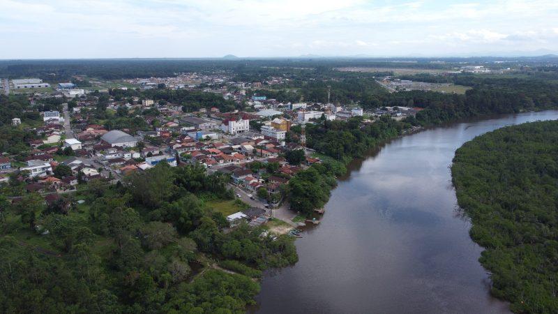 Araquari nasceu às margens do rio Parati, que hoje é berço do sustento de muitas famílias- Foto: Divulgação