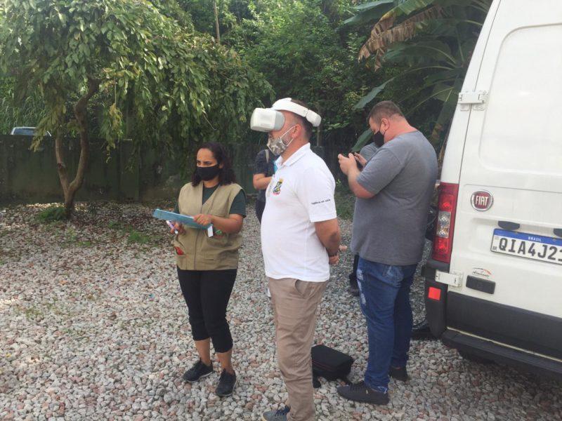 Drone vai auxiliar equipe de combate à dengue e identificar possíveis focos do mosquito – Foto: Prefeitura de Brusque/Secom/Divulgação