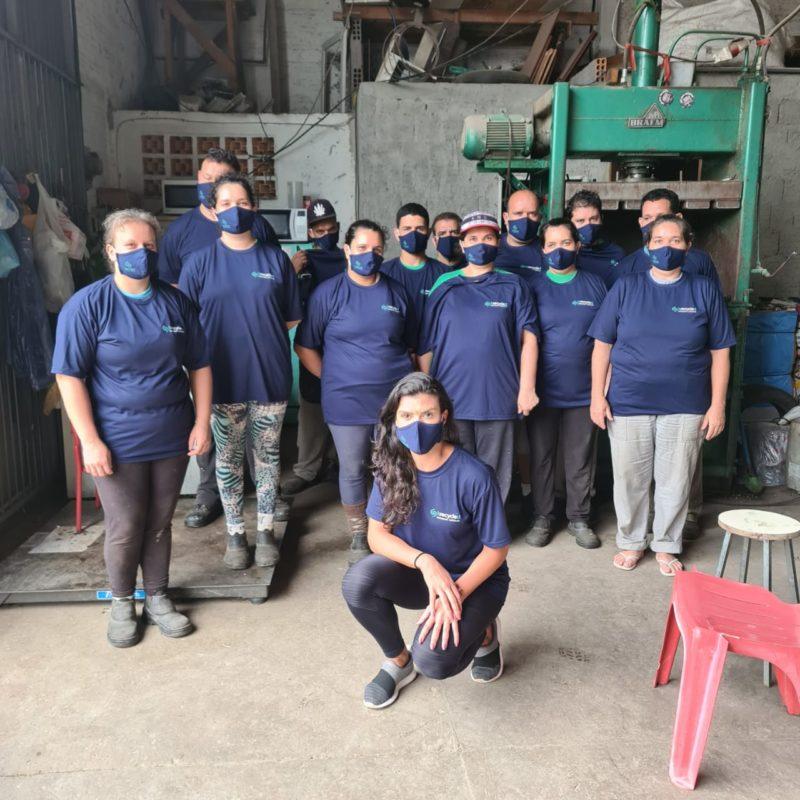 Cooperativa de catadores de lixo -Reprodução/ Acervo Bruna Leal/ND