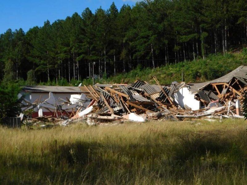 Escola foi demolida em Campos Novos – Foto: Luciane Carminatti/Reprodução