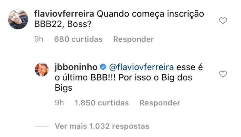 Comentário foi feito durante a madrugada em uma rede social – Foto: Instagram/Divulgação