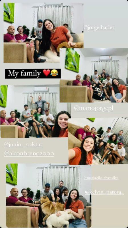 Família de Lurdiana se reúne para comemorar a visita da dançarina – Foto: Redes Sociais