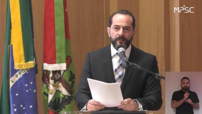 Fernando Comin, procurador-geral de Justiça de SC – Foto: Reprodução/ND