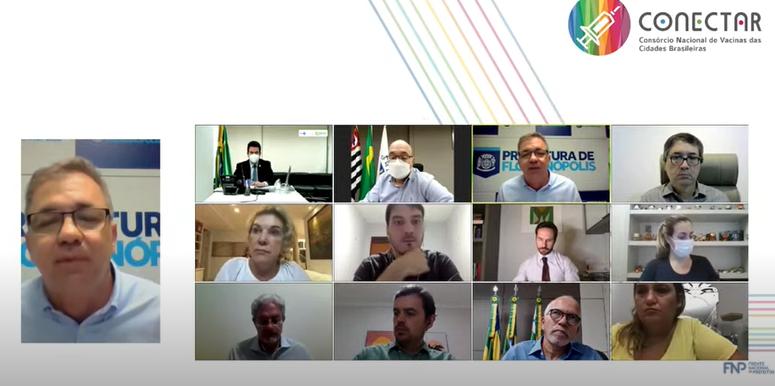 Reunião foi realizada nesta segunda-feira (19) por meio de videoconferência – Foto: Reprodução
