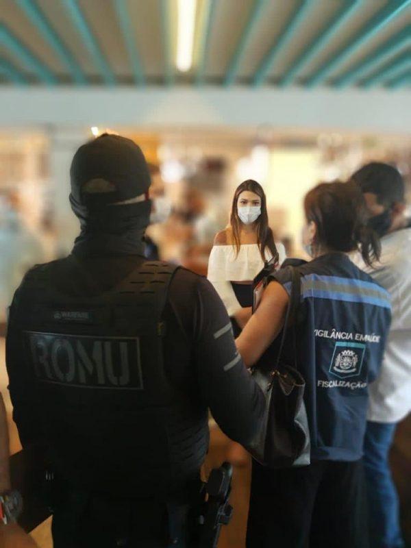 Força-tarefa fiscaliza cumprimento dos decretos de enfrentamento da Covid-19 – Foto: Divulgação/ND