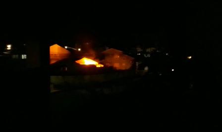 Proporção do incêndio assustou moradores da região – Foto: Reprodução
