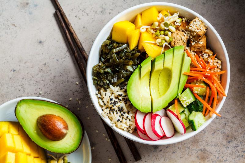 Tigela para representar uma dieta baseada no veganismo