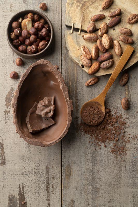 Foto de ovo de chocolate FIT para ilustrar a matéria