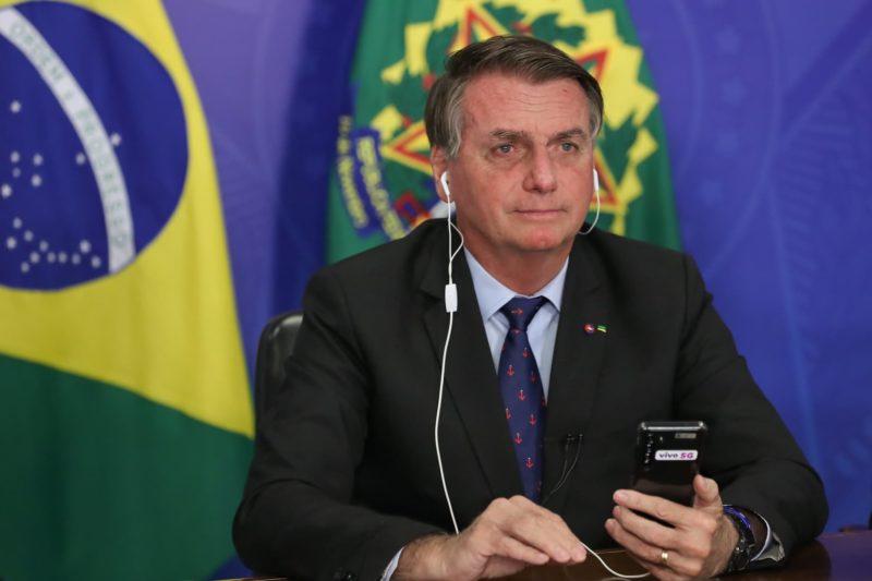 Jair Bolsonaro participa, nesta quinta-feira (22), da primeira sessão da Cúpula de Líderes sobre o Clima