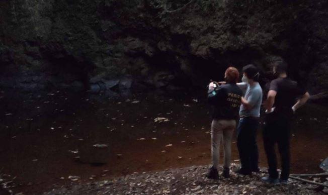 Jovem desaparecido há 11 dias é encontrado morto próximo a uma cachoeira no interior de Saltinho – Foto: Portal Campo Erê/Divulgação ND