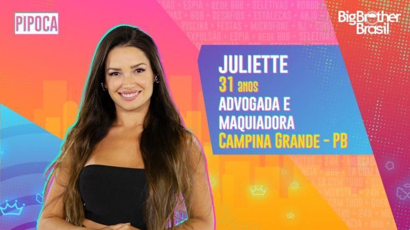 Juliette é a mais seguida no Instagram entre os participantes do BBB 21 – Foto: TV Globo/Reprodução/ND